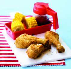 These are healthier than fried chicken! Remove the skin before cooking to lower the fat even further!