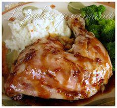 Le palais gourmand: Cuisses de poulet érable et soya