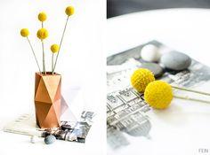Ein tolles DIY für diese wunderbare Origami Faltvase!