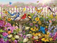 White Mountain - Birds of Summer Jigsaw Puzzle - 550 pc