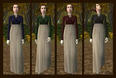 Mod The Sims - Regency Outerwear For Teens