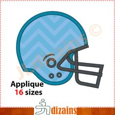 Football Helmet Applique Design  Machine Embroidery
