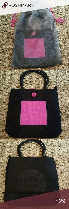 Silk Purse 100% Silk Purse Brought all the, way from Shanghai China as a gift to me but I have never used it  Comes in bag cover Black with fushia pink Bags