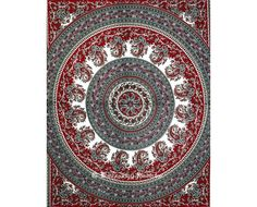 Maroon and Grey Round Hippie Bohemian indian Tapestry for Home Decor and bedcover, tablecloth, Twin mandala Dorm tapestries by vedindia #Bohemian #tapestry #wallhangings #hippie #drom #beach #mandala #tapestries #bohostyle