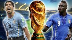 Italia vs. Uruguay solo uno estará en octavos. June 24, 2014.