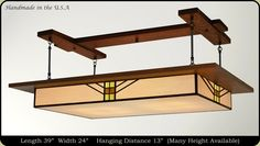 Prairie Light Fixture :: American Made Prairie Style Lighting - over the pool table