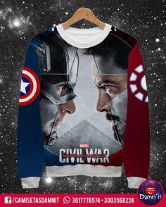 Buzo básico Civil War    https://www.facebook.com/CamisetasDamnit