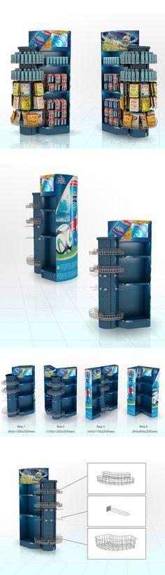 "Point of Sale | Point of Purchase Design | POP | POSM | POS | POP | design Trading racks transformer, brand ""Baltika"""