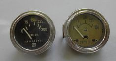 Vintage Auto Oil Pressure Gauges Brass Beautys by kissmyattvintage