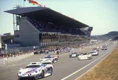 Porsche 911 GT1 at Le Mans 1996. The both Porsche 911 GT1 crossed the finish line on position 2 and 3.