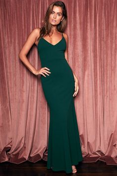 6378ff3d1f8 Infinite Glory Forest Green Maxi Dress Green Dresses For Sale