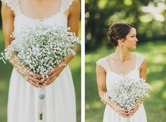 Love all this so much! The flowers, dress, hair....