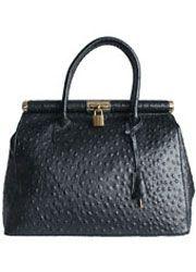 black ostrich bag - Google Search