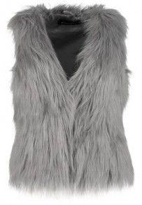 Expresso KLAUDIA Kamizelka szary Coat, Shopping, Sewing Coat, Peacoats, Coats, Jacket