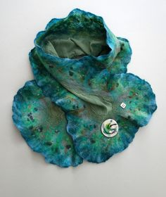 Glade | Nuno-felt scarf On sale at The White Fox Gallery, Coldstream Nuno Felt Scarf, White Fox, Nuno Felting, Gallery