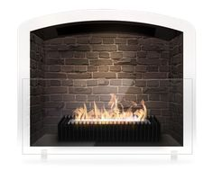 Eco fireplace grate- no chimney needed. Perfect for a faux fireplace or one that's closed off