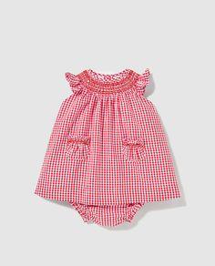 Vestido de bebé niña Dulces de cuadros vichy