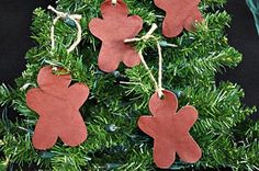 Water Hardened Leather Gingerbread Men Rustic by tickletrunk, $10.00
