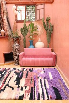 Colorful Apartment, Dyi, Purple Interior, Custom Rugs, Eclectic Decor, Rugs In Living Room, Rugs On Carpet, Floor Covering, Sheep Wool