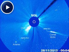 Disso Voce Sabia?: Cometa ISON mergulha (periélio) para contornar o sol