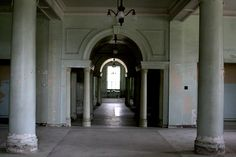Yankton State Hospital. Foyer in Meade building.