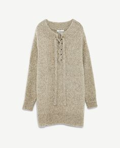 Image 8 of OVERSIZED DRESS WITH FRONT CORD from Zara
