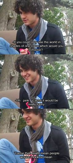 This is why I love him so much. Darren Criss for ya.