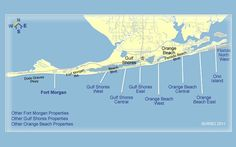 Map of Orange Beach/Fort Morgan, Alabama