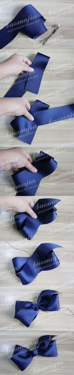 1. 1本のリボンで作る簡単リボンモチーフ - バレッタの作り方と可愛いバレッタアイデア13選【髪を彩る手作りヘアアクセ②】 (2ページ目)|cuta [キュータ]