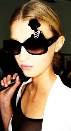 Chanel Spring/Summer 2013 collection - with Coco on the glasses- amazing
