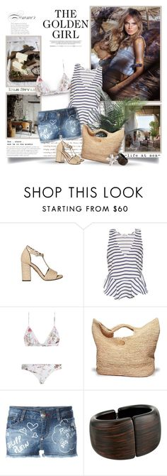 """Life At Sea"" by thewondersoffashion ❤ liked on Polyvore featuring Charlotte Olympia, Elizabeth and James, Zimmermann and Kenneth Jay Lane"