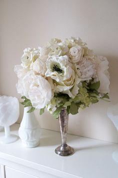 Vintage Fabric Flower Bouquet.