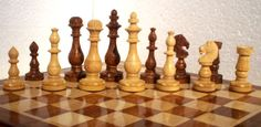 Chess Set Wooden Classic-  handcrafted 32 Chess Pieces from India