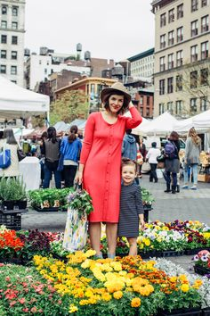I like: photos with lots of flowers. Hopefully spring will allow for that! Whether at a market or just near some already planted.