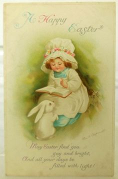 A Happy Easter Vintage Post Card By Artist Ellen H Clapsaddle Unposted