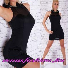 Divatos fekete ujjatlan dekoratív alkalmi mini ruha - Venus fashion női  ruha webáruház  4b92f4bb37