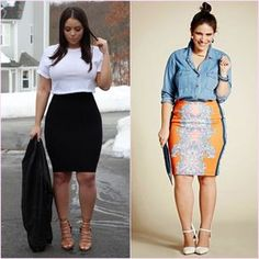 Look plus size inspiration: bandage skirt, slit blouse and collection Work Fashion, Curvy Fashion, Plus Size Fashion, Fashion Outfits, Fashion Clothes, Plus Size Looks, Look Plus, Curvy Outfits, Plus Size Outfits