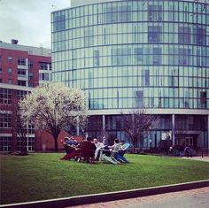 Lounging around on a beautiful Day! #endofsemester #happyfriday #northeastern