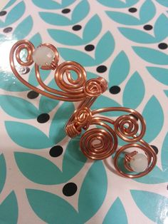 Copper Peacock Tail Statement Ring  by trendytrinketsbymely, $25.00