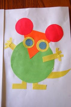 "Mice made out of shapes to go along with ""Mouse Shapes"" by Ellen Stoll Walsh"