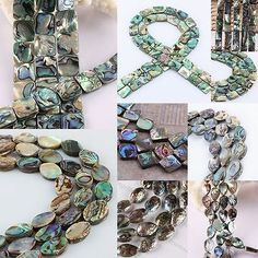 New-Zealand-Paua-Abalone-Shell-Oblong-Oval-Teardrop-Square-Loose-Beads-Findings