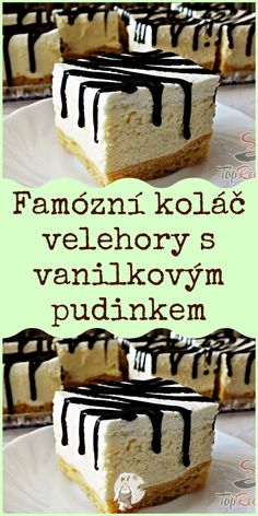 Slovakian Food, Blackberries, Dessert Recipes, Desserts, Ham, Cheesecake, Sweets, Chocolate, Cooking