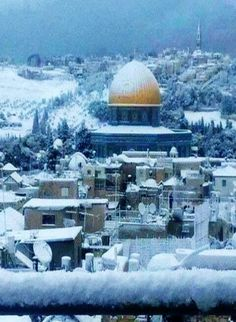 Jerusalem, Israel Snow Covered