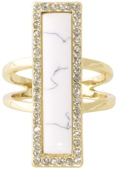 House of Harlow 1960 Jewelry Illuminating Rectangle Ring
