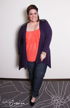 From plus size fashion blogger Jessica Kane : wearing plus size fashion from @Torrid Luna Fashion, Cardi from Simply Be, Jeggings from Svoboda.