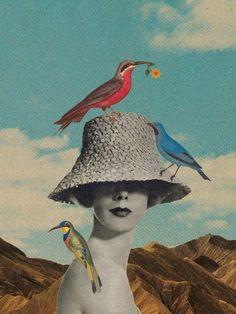 ATELIER RUE VERTE le blog: Collages retro par l'artiste Sammy Slabbinck