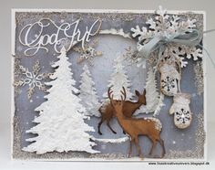 Lisas Kreative Univers: GOD JUL MED RIDDERSHOLM Christmas Cards 2017, Stamped Christmas Cards, Christmas Deer, Xmas Cards, Handmade Christmas, Holiday Cards, Christmas Crafts, Christmas Scrapbook, 3d Cards