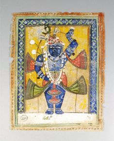 A Study Group of Shrinathji paintings, Nathwadara, 19th century, gouache on paper, comprising various sizes of devotional images, (28) Shrinathji is a form of Hindu god Krishna, manifest as a seven-year-old child. The principal shrine of Shrinathji is situated at the temple town of Nathdwara, located 48 Kilometers North-east of Udaipur in Rajasthan. Shrinathji is the central presiding deity of the Vaishnava sect known as the Pushti Marg or Shuddhavaita, established by Shri Vallabhacharya…