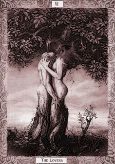 Tarot card. The Lovers.
