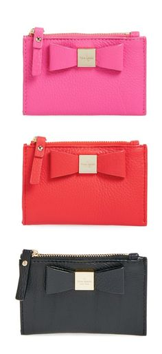 kate spade bow wristlets? i'll take one in each color, please! #wishlist #fashionfaves